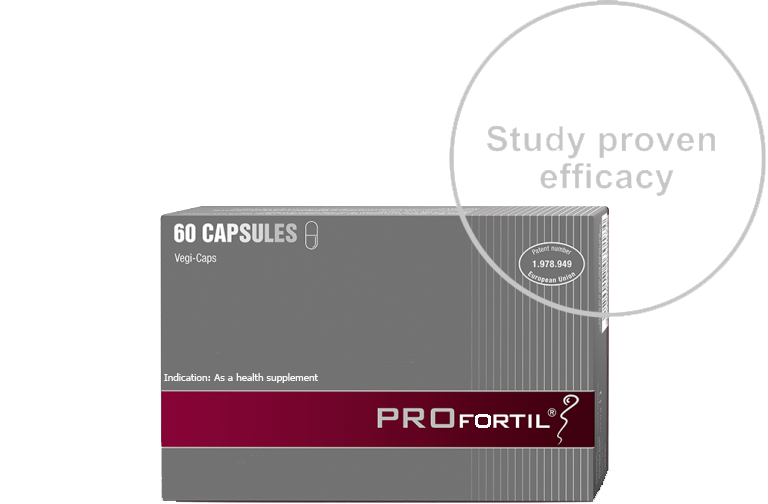 PROFORTIL™ is the only tested and patented product that contributes to the optimization of sperm quality