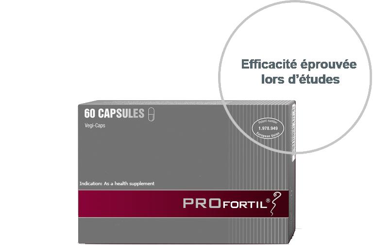 PROFORTIL™ est le seul produit testé et breveté qui contribue à l'optimisation de la qualité du sperme.